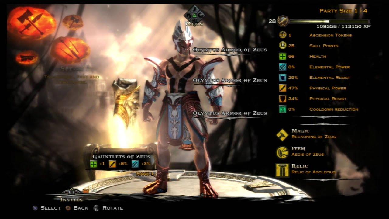 God of war ascension multiplayer olympus armor of zeus and god of war ascension multiplayer olympus armor of zeus and gauntlets of zeus stats youtube voltagebd Choice Image
