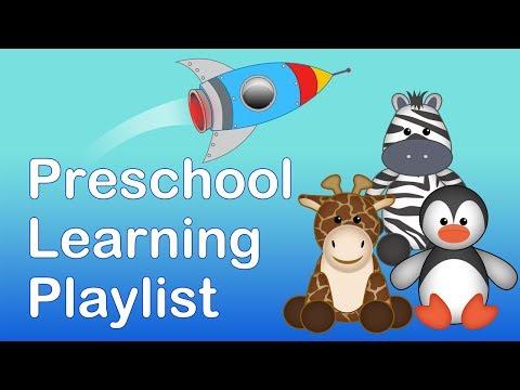 PRESCHOOL & KINDERGARTEN LEARNING PLAYLIST | 20 MINS LONG.Learning songs for babies and children.