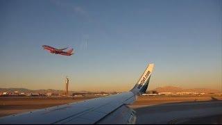 Awesome View! Westjet Landing in Las Vegas Nevada