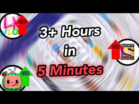 cocomelon-hits-83-million-&-set-india-73-million-&-like-nastya-55-million-(3+-hours-timelapse)