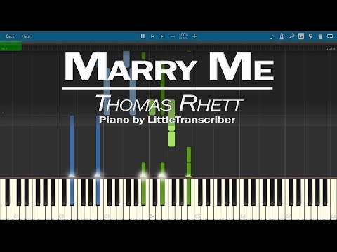 Thomas Rhett - Marry Me (Piano Cover) by LittleTranscriber