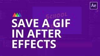 So Erstellen Sie ein GIF Mit After Effects