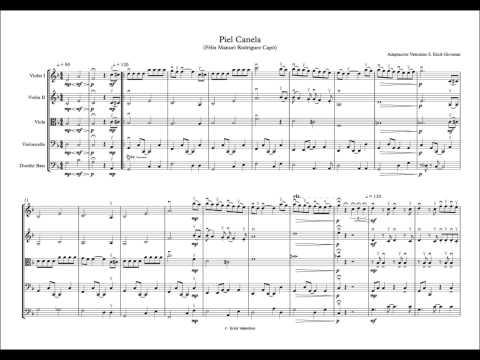 Piel Canela - Score (Partituras para orquesta de cuerdas)