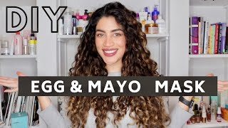 Easy Cheap Egg Mayo Hair Mask for Protein Moisture