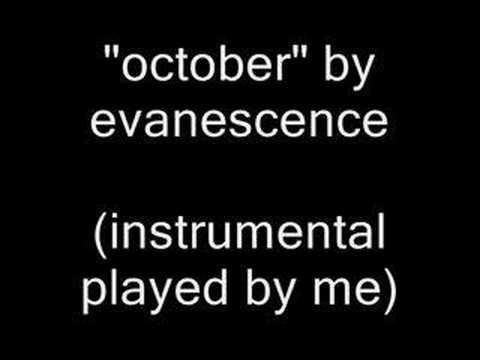 evanescence - october (instrumental cover)