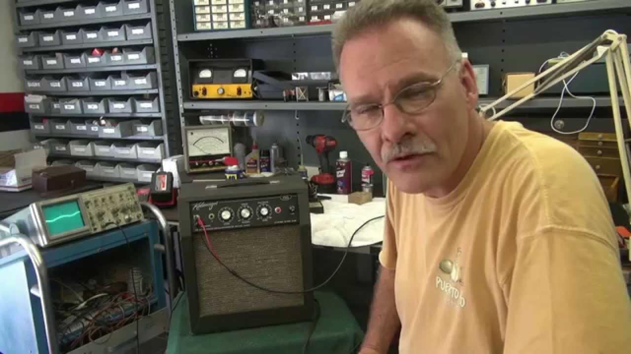 How to repair kalamazoo Model 2 Tube guitar amp Noise Hum by D-lab