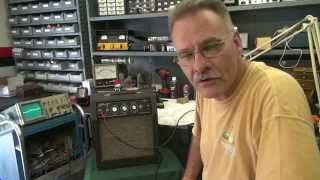 How to repair kalamazoo Model 2 Tube guitar amp Noise Hum by D-lab
