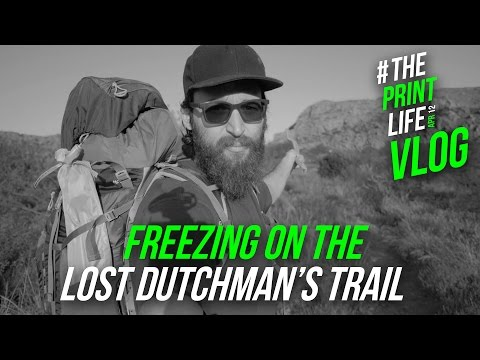 Freezing on the Lost Dutchman's Trail while backpacking