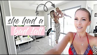 SHE HAD A BAD FALL - TODDLER HURT HERSELF  *AUSSIE MUM VLOGGER*