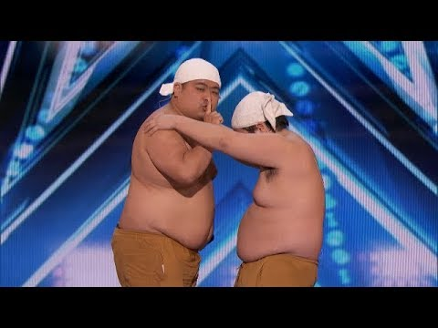 """Comedic Duo Make Sounds """"Feel So Good"""" With Their Bodies   America's Got Talent 2018"""