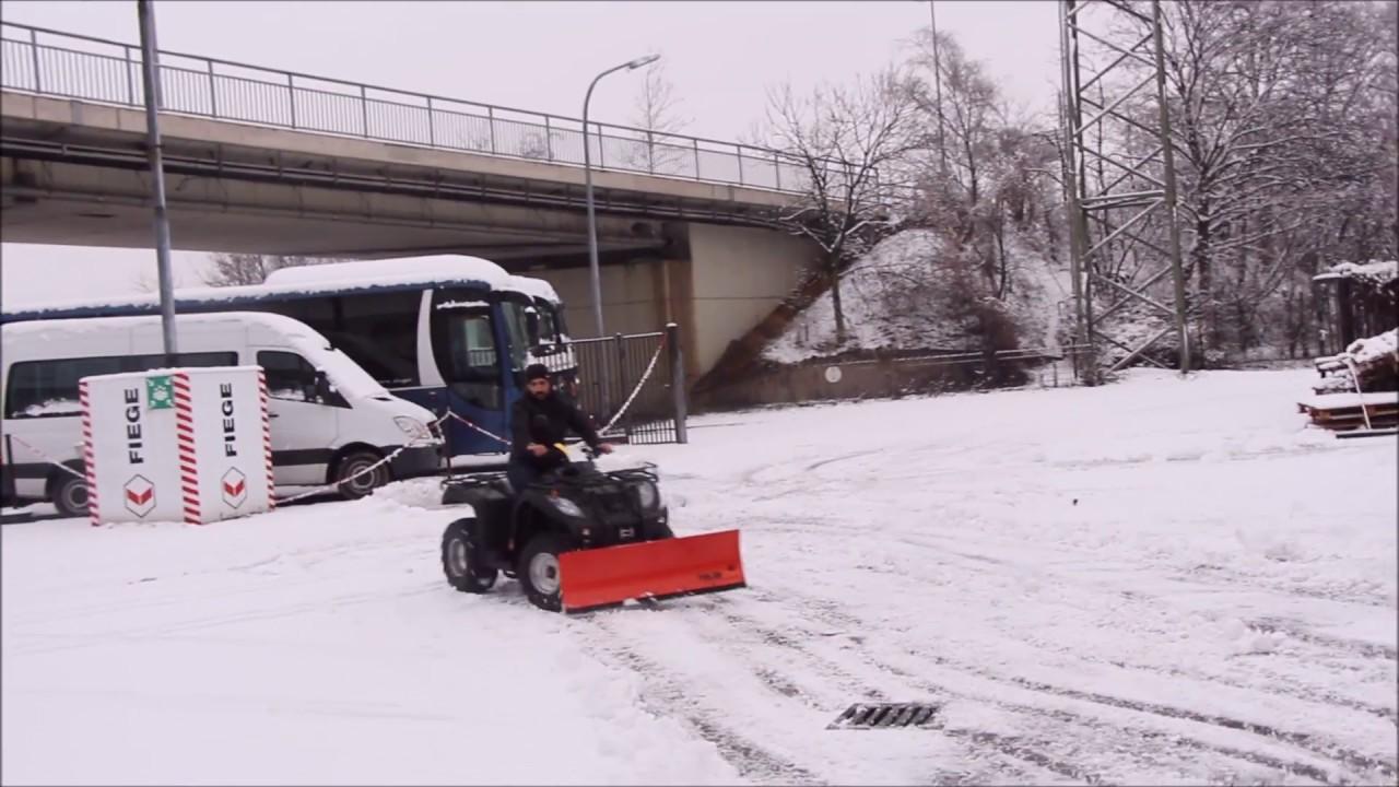 Etwas Neues genug Schneeschieben Schneeräumen mit dem ATV Quad Schnee Qcr #AU_48