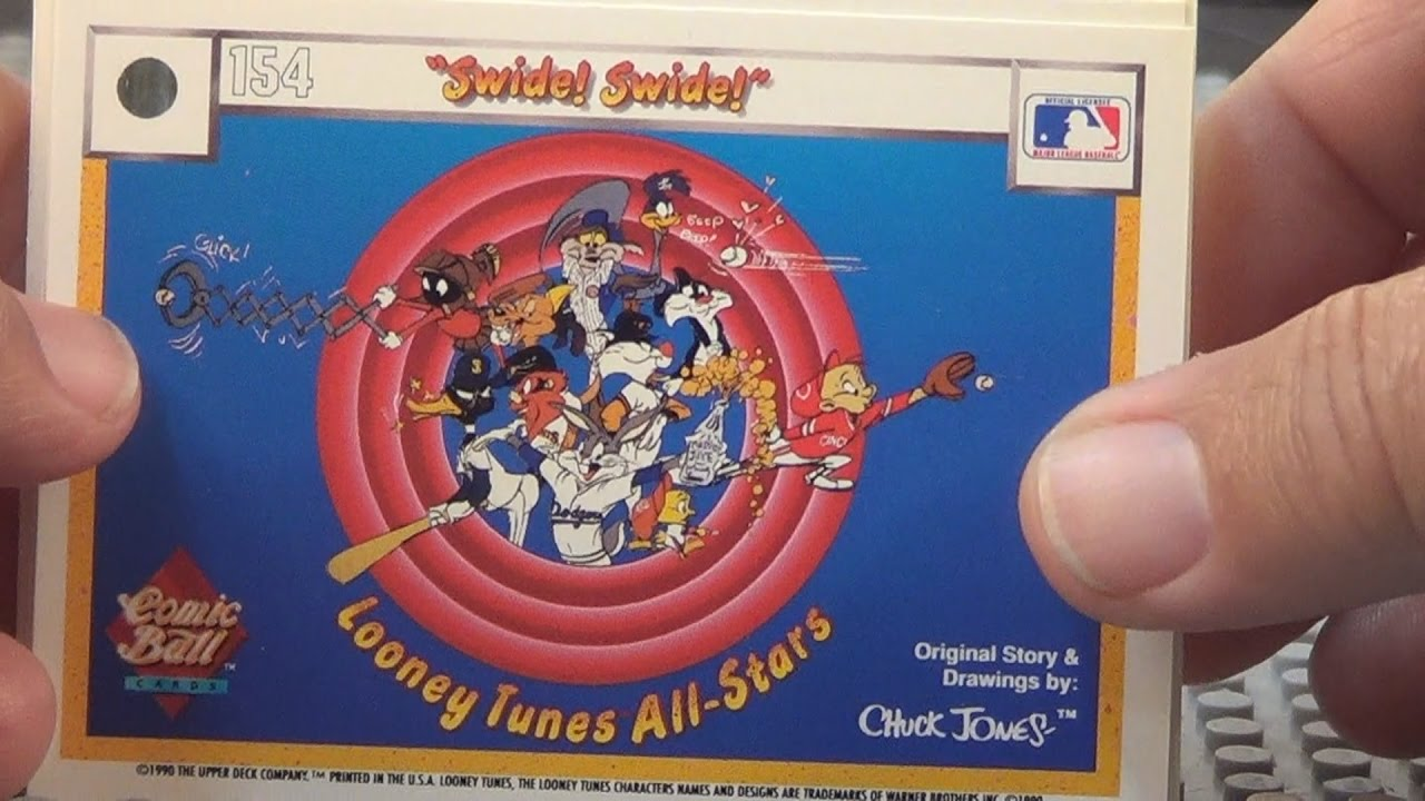 1990 Upper Deck Looney Tunes Comic Ball Baseball Cards Story 1 Daffy Duck