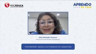 Rol del voluntariado para la nivelación de vacaciones 2021