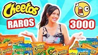 PROBANDO LOS CHEETOS MAS RAROS DEL MUNDO! 10 Sabores 3000 Cheetos! TASTING SandraCiresArt thumbnail