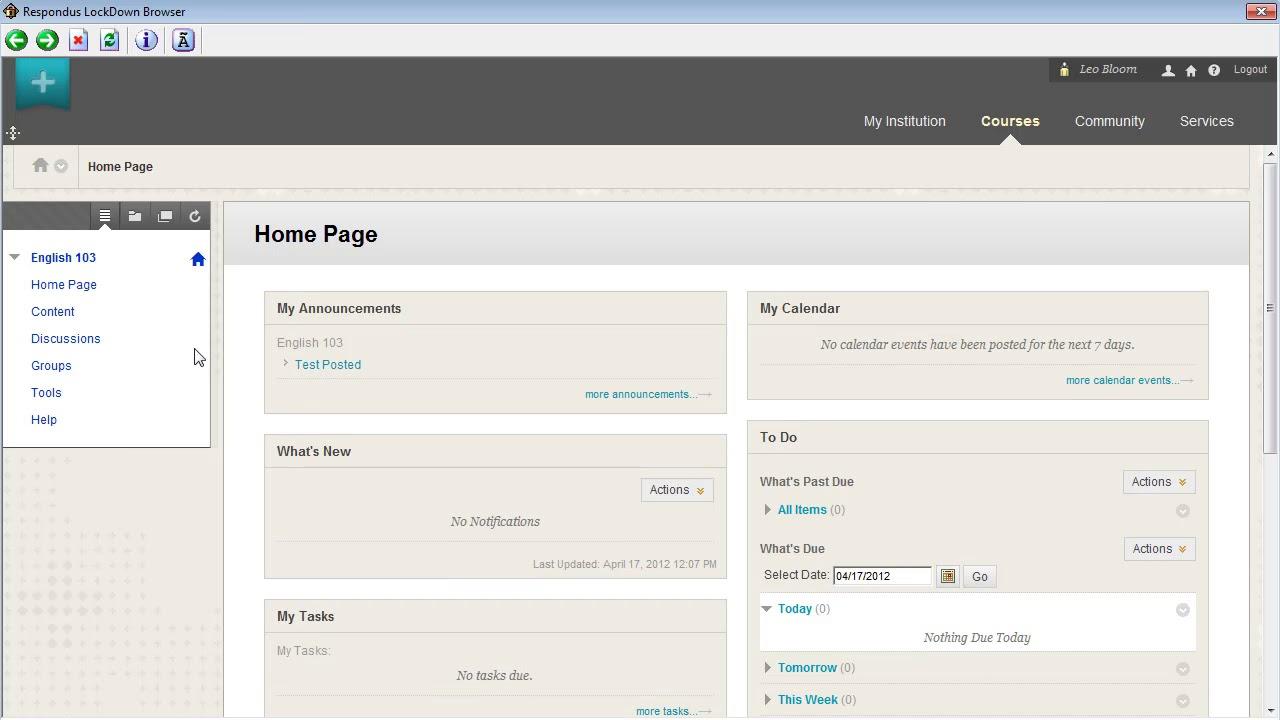 Respondus LockDown Browser - NIU - Teaching with Blackboard