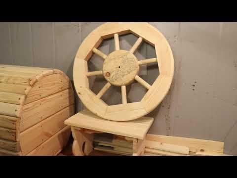 Деревянное колесо своими руками
