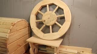 как сделать деревянное колесо своими руками