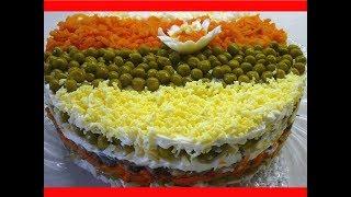 Этот салат переплюнул знаменитый «Оливье»/ САЛАТ «КУПЕЧЕСКИЙ» на праздничный стол