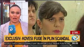Kovesi fuge în plin scandal. Fosta șefă DNA și-a luat concediu
