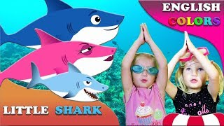 Baby Shark Sing and Dance! | Learn ENGLISH | Songs for Children with Kid Shark and Sharks Family!