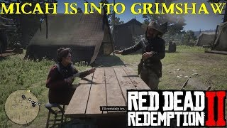 Red Dead Redemption 2 | Miss Grimshaw holds Micah At Gunpoint in Camp