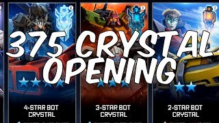 EPIC 3 x 4 STAR BOT CRYSTAL OPENING! - + MORE! 375 CRYSTAL OPENING! - TRANSFORMERS: Forged To Fight