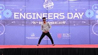 Engineering day dance by a hip hop boy