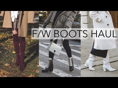 FALL/WINTER 2019 BOOT HAUL + SHOE TRY ON | (Marc Fisher, Sam Edelman, Mango, Zara, Sorel Etc)