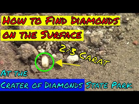 Surface Hunting For Diamonds At The Crater Of Diamonds State Park