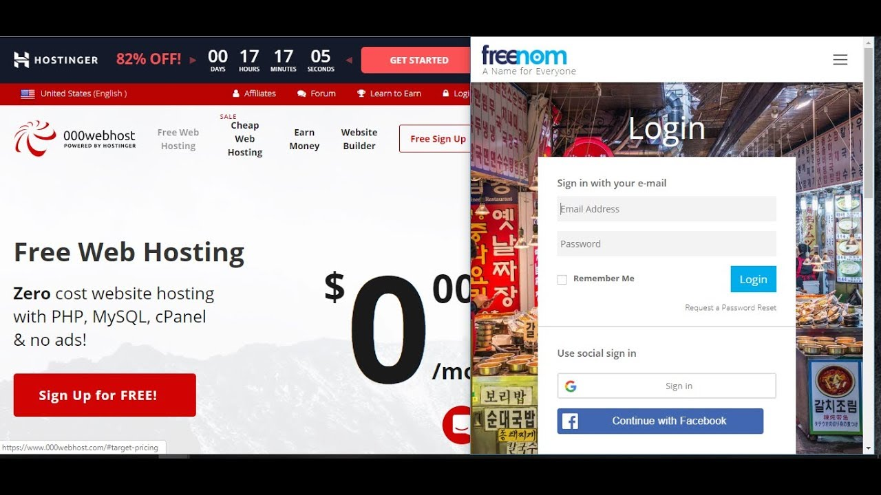 Free Webhosting with Free Domain || Connect freenom domain to 000webhost com