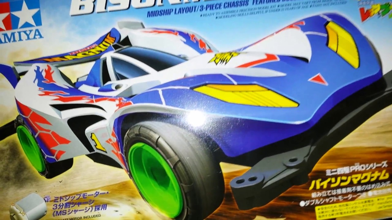 Bison Magnum Unboxing Lets Go Tamiya Mini 4wd Youtube Chassis Tz Original