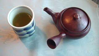 How to brew (make) Japanese green tea (sencha). 熱すぎるお湯での日本茶のおいしい いれかた