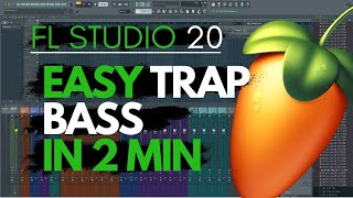 Easy Trap 909 Bass FL Studio 20 Tutorial