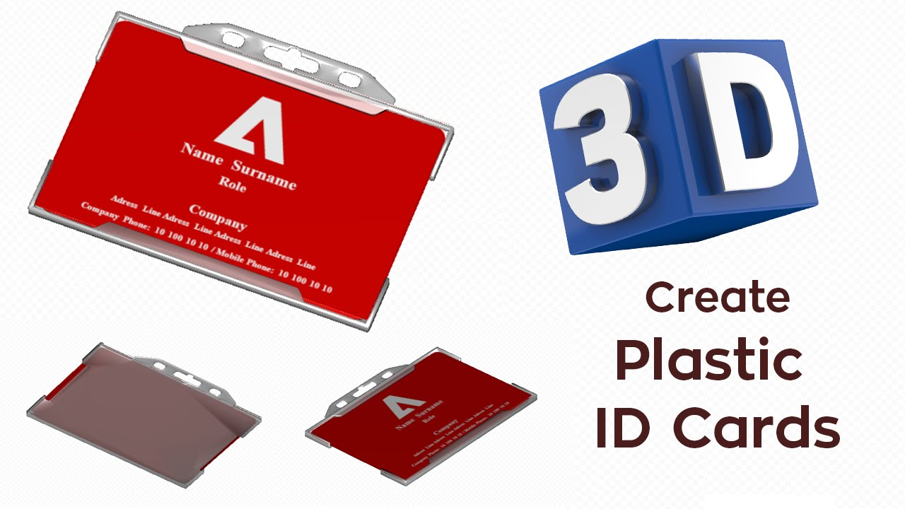 plastic id cards designing with the new 3d view - Plastic Id Cards