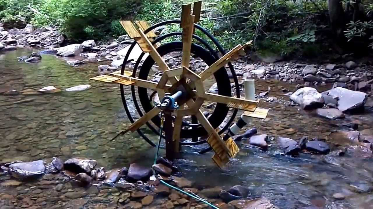 Perpetual motion water wheel pump. Water wheel. - YouTube