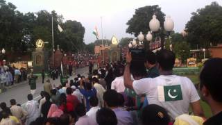 full ceremony pakistan side border, wagha border, parade india pakistan flag by zahid part 2