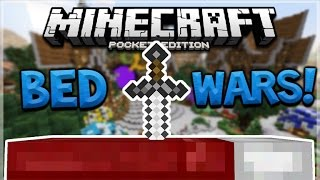 NEW BEDWARS SERVER!! Minecraft Pocket Edition BEDWARS Mini-Game EPIC BATTLES! (Pocket Edition)
