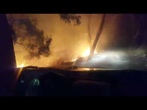 Incendio forestal en García Aldave