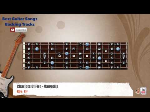 Chariots Of Fire - Vangelis Guitar Backing Track with scale
