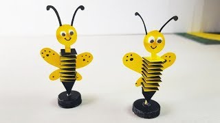 How To Make Buzzing Bee With Paper | DIY Buzzing Bee Desk Decor | Desk Accessories | Paper Girl