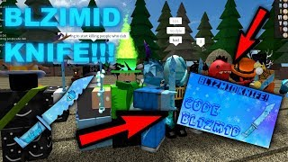 THEY ADDED A BLIZMID KNIFE!!!   Roblox MMX