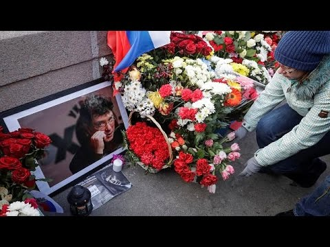 Moscow rally for murdered Kremlin critic Boris Nemtsov