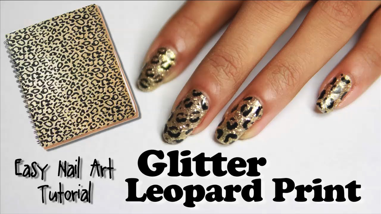 Glitter Leopard Print Nails with Incoco Nail Polish Strips [easy ...