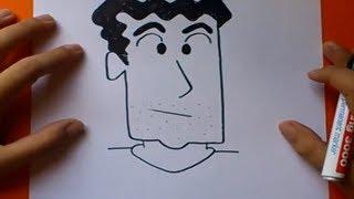 Como dibujar a Hiroshi paso a paso - Shin chan | How to draw Hiroshi - Shin chan