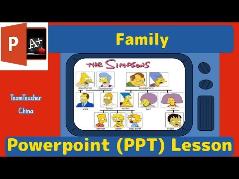 Family  - ESL Powerpoint Lesson Plan  | Download Free PPT From Link