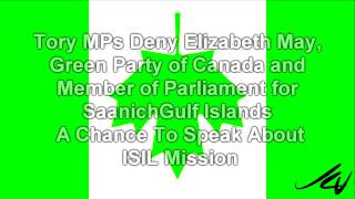 Sexist Tories Deny Green Party Leader Elizabeth May a Chance to Speak  -  YouTube