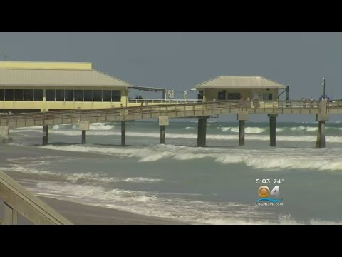 Massive Waves Push Sand, Water Inland And Cause Flooding Issues