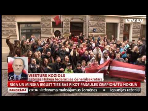 Rīga un Minska iegūst tiesības rīkot pasaules čempionātu hokejā