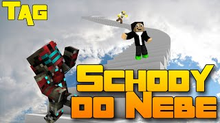 SAJMON JE POD STOLEM! - Minecraft Mini-game: Schody do nebe!