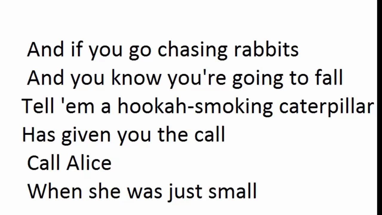 PINK - White Rabbit Lyrics - YouTube